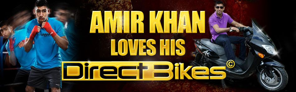 Amir Khan loves his Direct Bikes Scooter